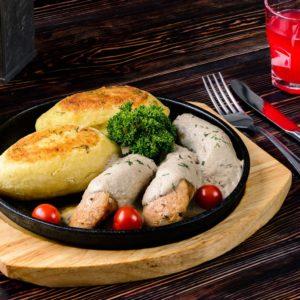 Бульбяники с домашней колбасой 1