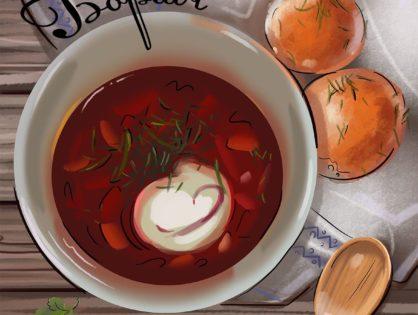 Borsht, the eternal pride of the Slavonic cuisine