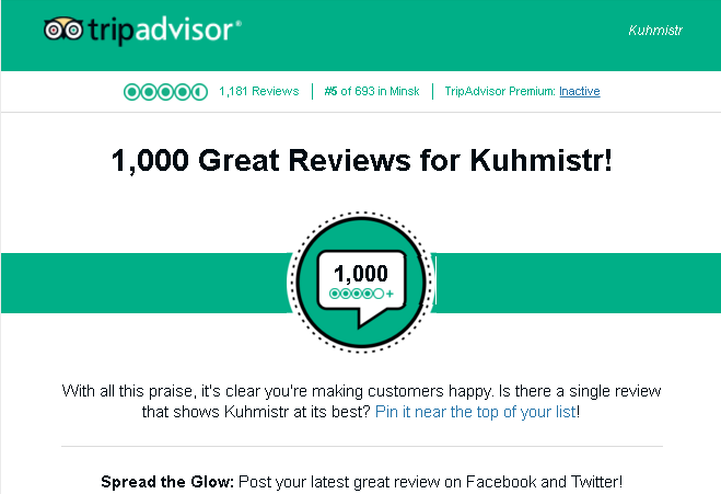 1000 great reviews at TripAdvisor, and it's clear: Diners love Kuhmistr