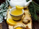 Имбирный чай с мёдом